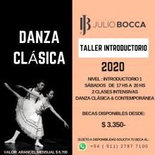 TALLER INTRODUCTORIO 1 DANZA CLÁSICA & CONTEMPORÁNEA